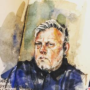 Sky Arts Portrait Artist of the Week: Portrait Sketch of Rankin