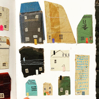 Houses made from the things I found on my studio floor