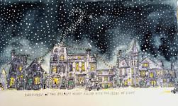 Festive Advent Calendar Illustration