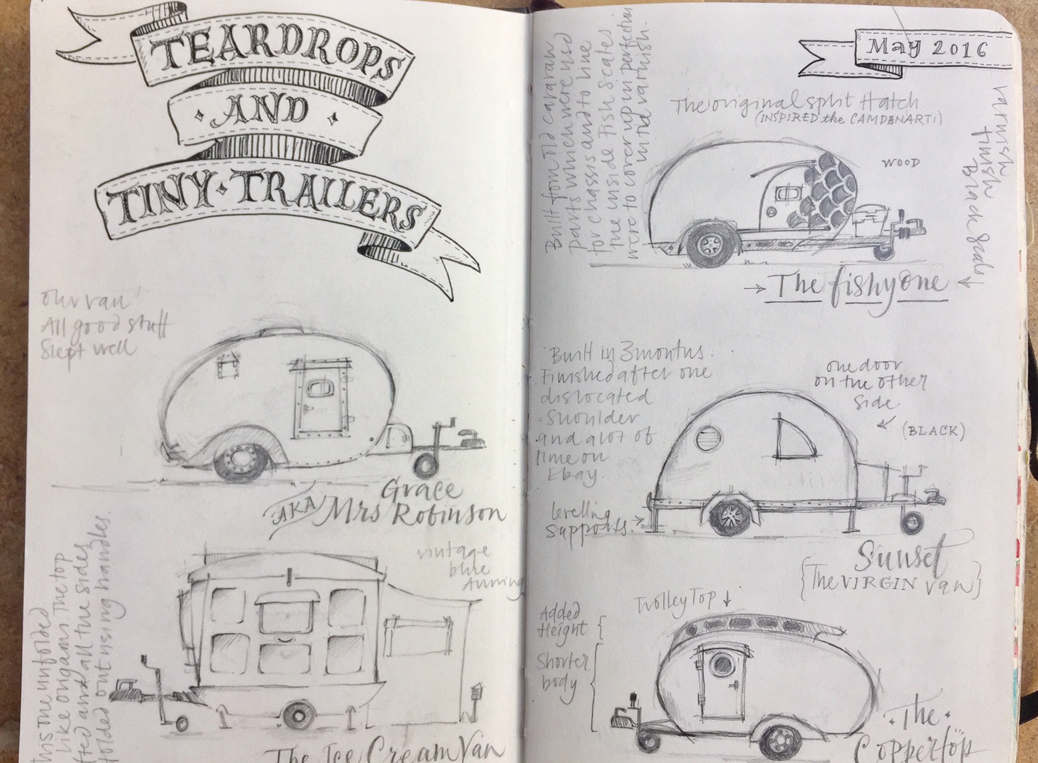 Teardrop Trailers Daily Journal Sketch