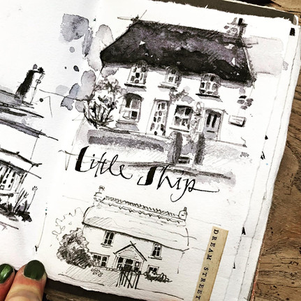 Cottage Sketching in Cornwall