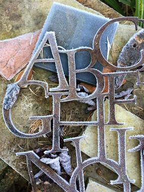 Cut Metal Alphabet