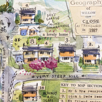 Detail: The Geography of Willow View Close in 1987