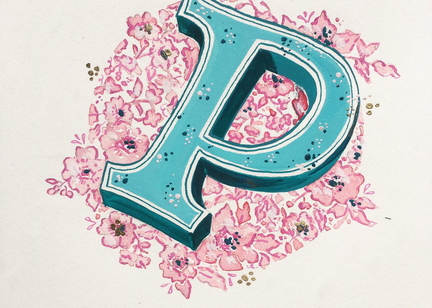 Modern Illuminated Letter