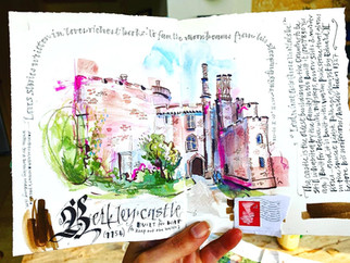 House Sketchbook: The Castle made from pink stone