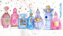 Boozy bottles workshop variation using perfume bottles