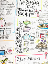 Sketching everything we ate over christmas