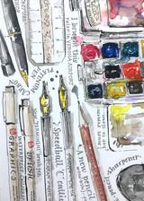 Art Materials Illustration