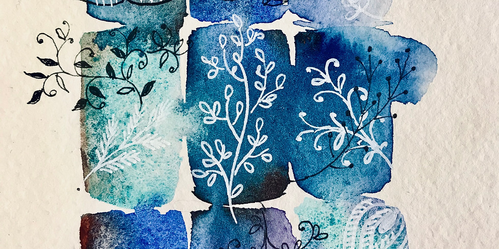 Watercolour Wednesday 2: Magical Blended Botanicals for Cards and Journals