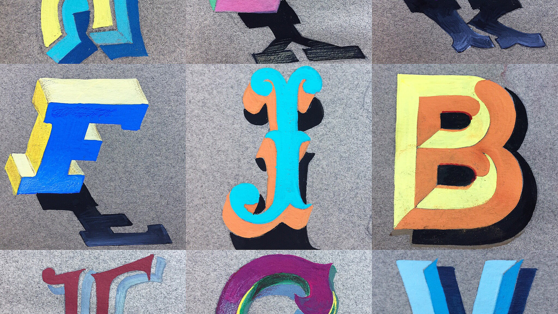 Individually Painted Circus and Fairground Letters