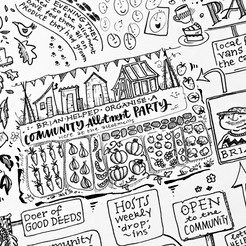 Detail from a community map panel for MIND Cambridgeshire