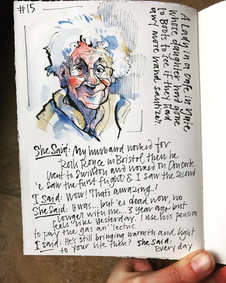 Daily Journal documenting a conversation I had with a lovely lady in a cafe.