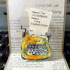 Tiny Paper Pop-Up Typewriter