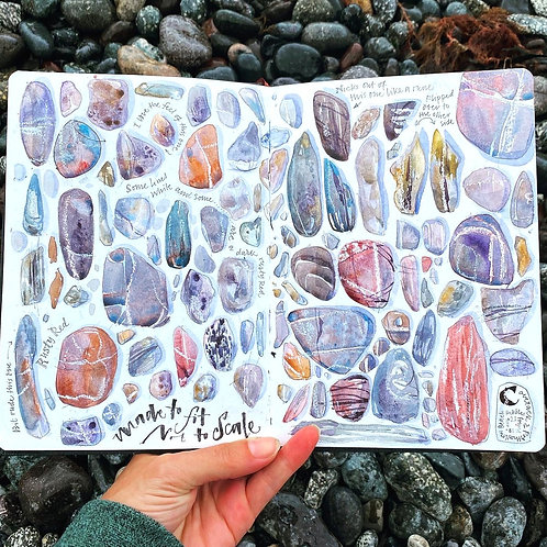 Peaceful Pebble Sketching
