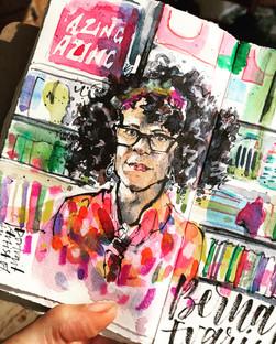 Sky Arts Portrait Artist of the Week:  Featured Portrait of Bernardina Evaristo