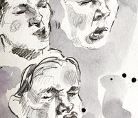 Sketchbook study of nose wiggling