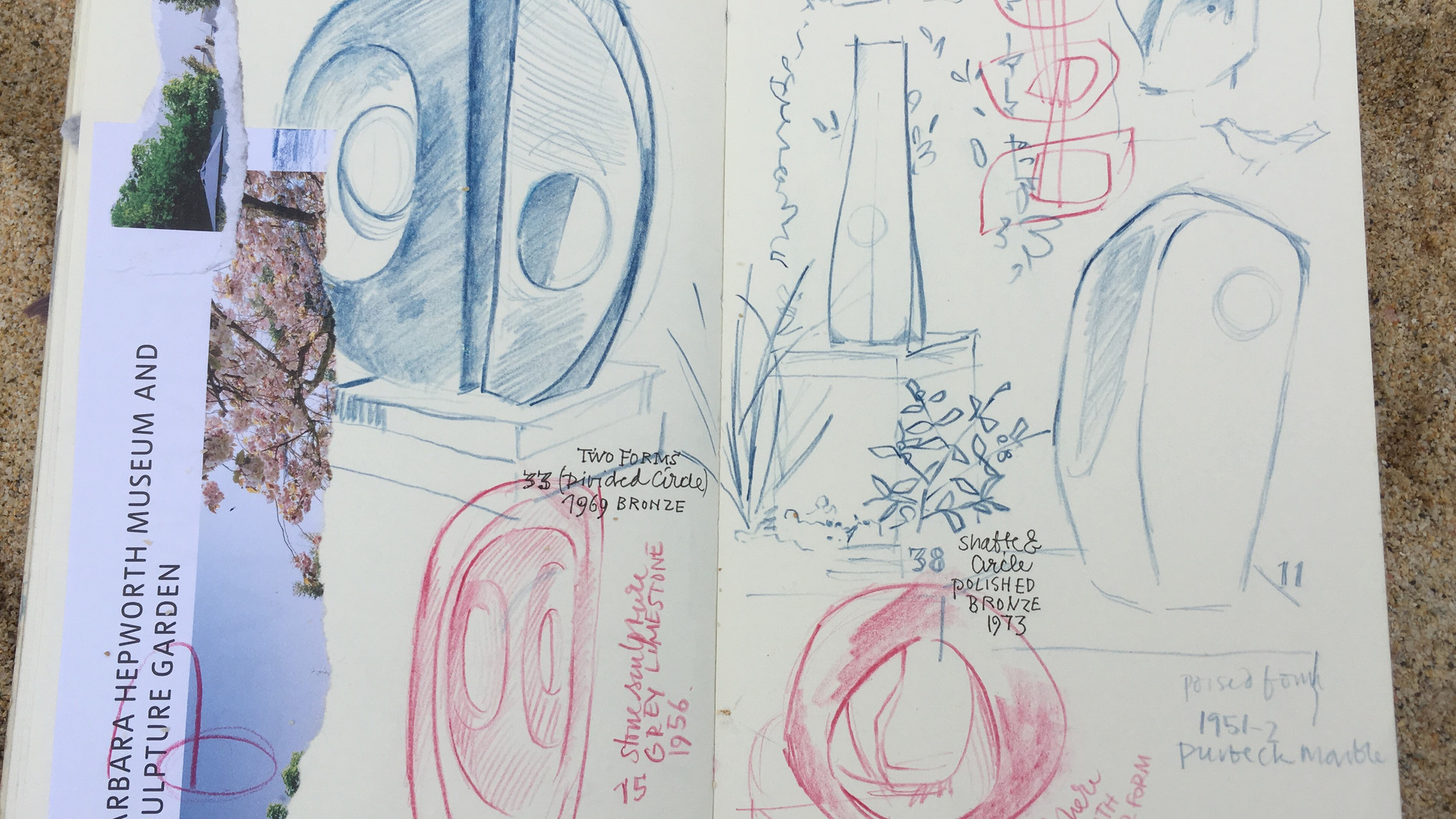 Barbarba Hepworth Museum Sketches