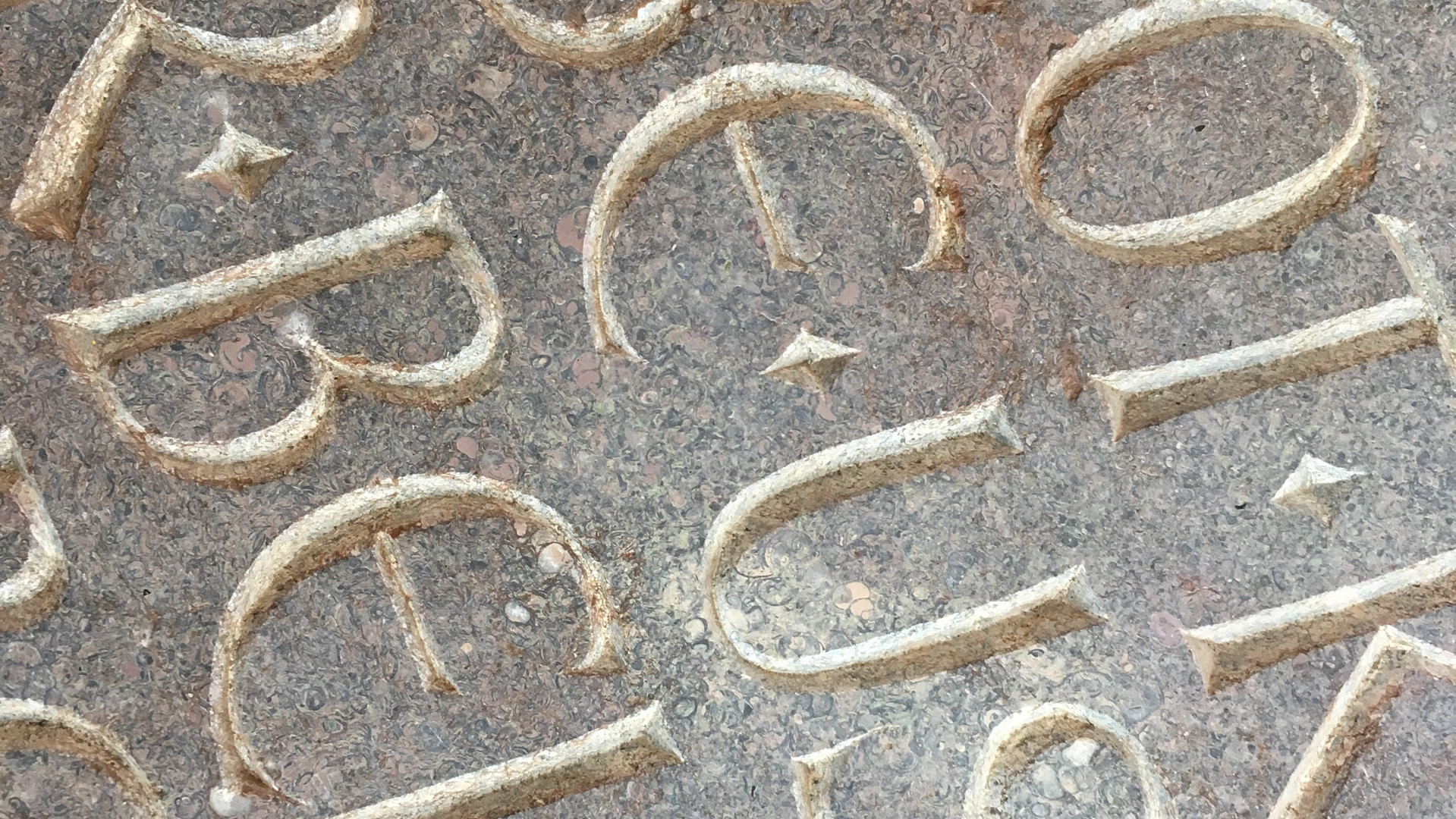 Detail from a Hand Carved Stone Tablet