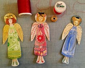 Painted Paper Angels Workshop