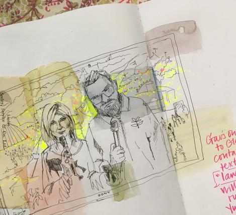 TV Screen Pause Sketch