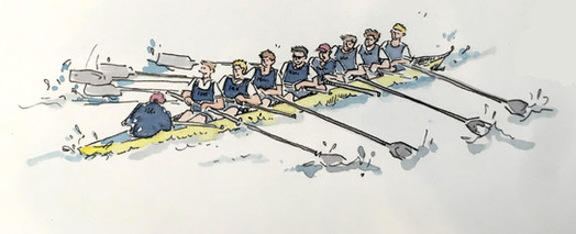 Oxford/Cambridge Boat Race Illustration