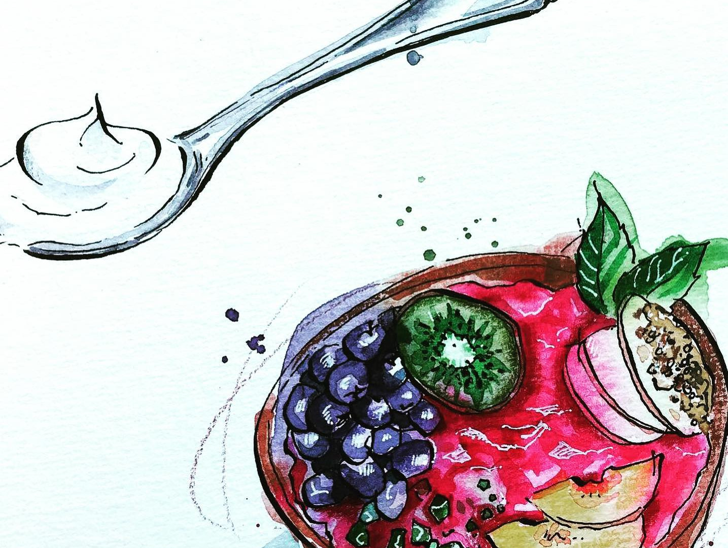 Smoothie bowl for Yeo Valley