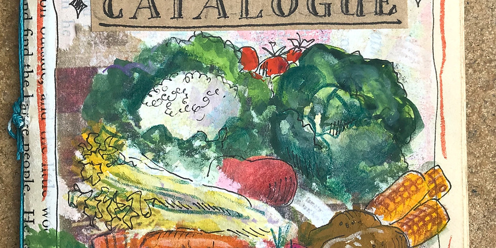 Make a Mini Book: Illustrated Vintage Seed Catalogue