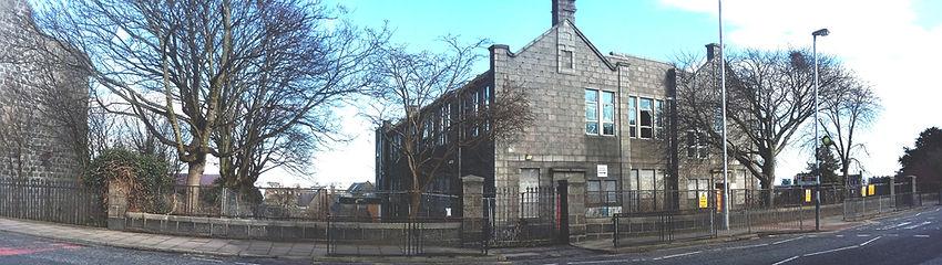 View of teh Victoria Road School buildings, Torry, Aberdeen
