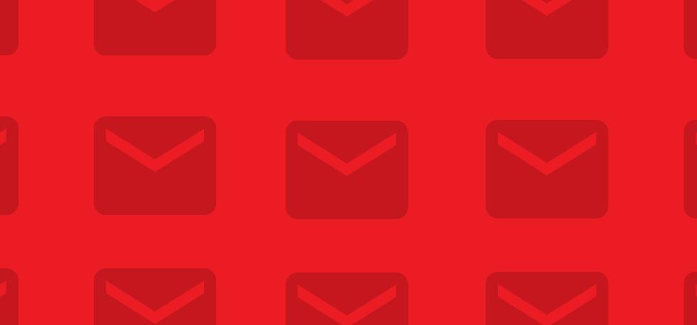 Achtergrondstrook rode envelop