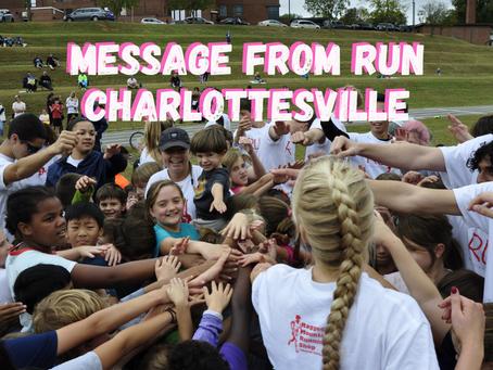 Message From Run Charlottesville