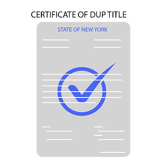 NYS Duplicate Title Request  Service