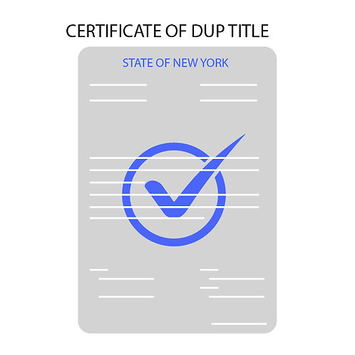 NYS Duplicate Title Request