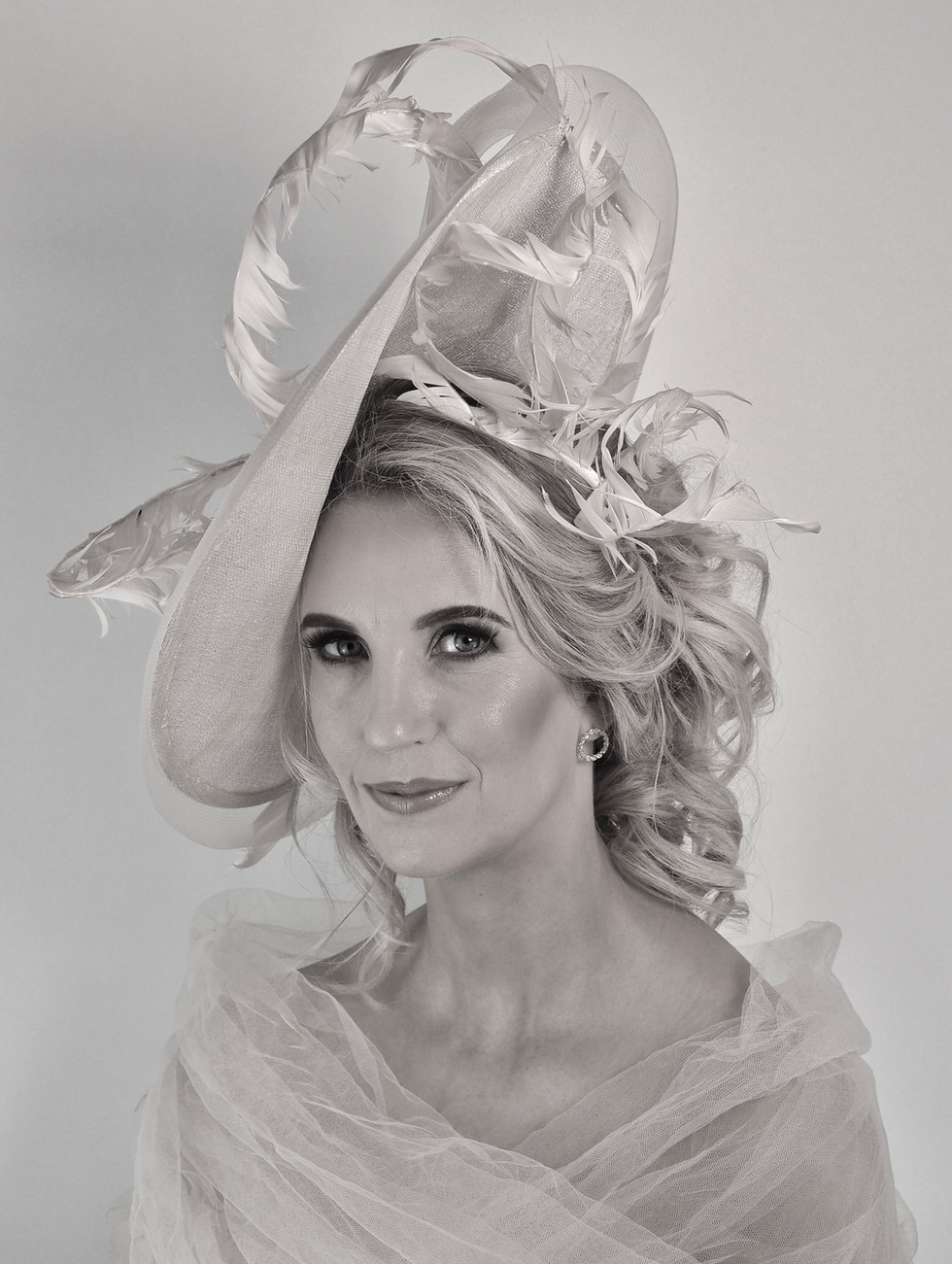 Large Brim Feather Special Occasion Hat