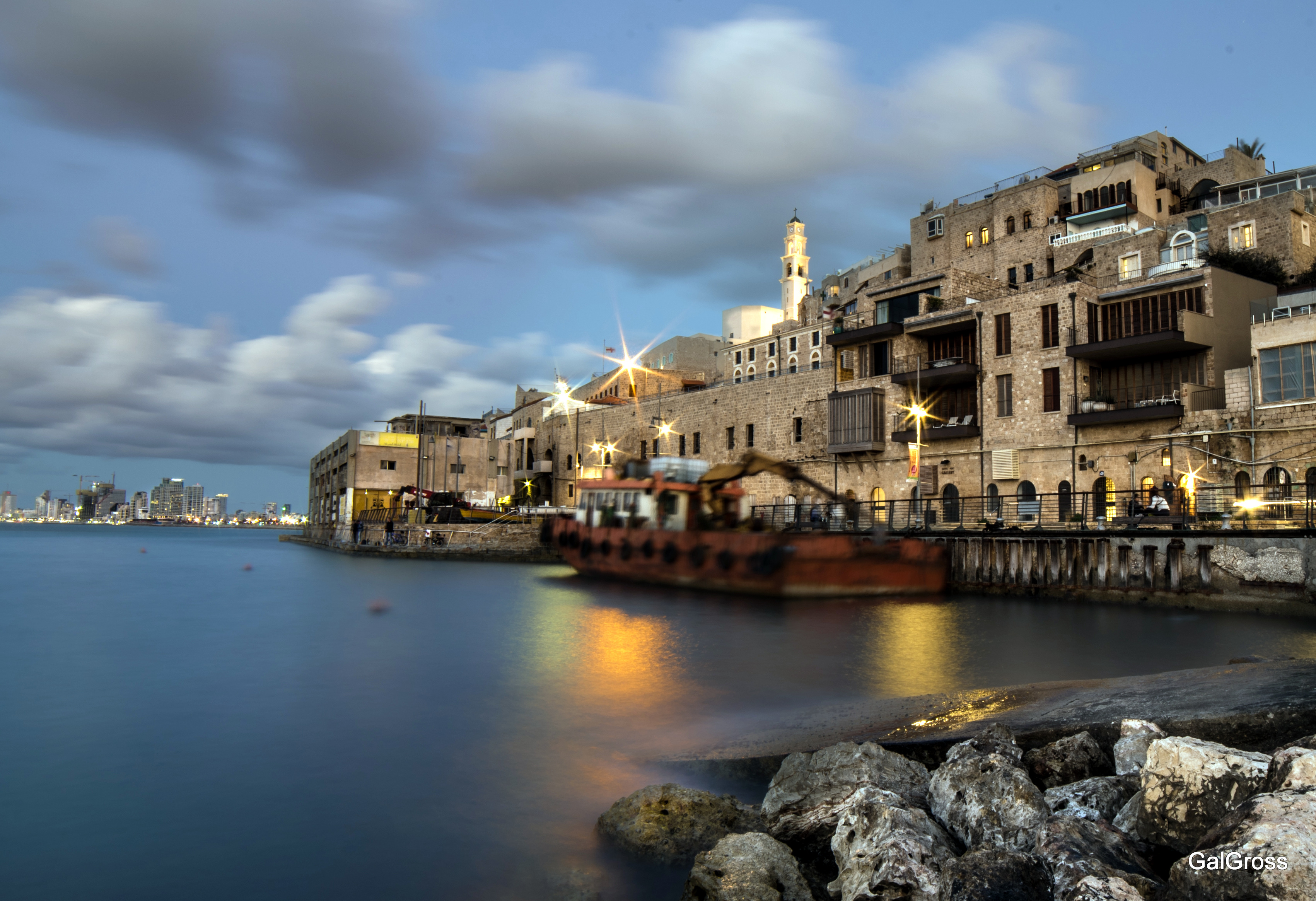 Jaffa Port at night