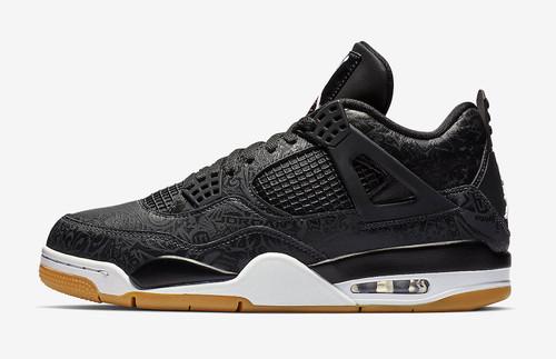 166b60d2c28089 Nike Air Jordan Retro 4 Black Laser