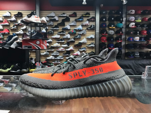 Boost 350 V 2 Beluga Sply 350 Black White Green Glow BB 1829 Men