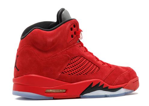 2127ea87dcb9 Nike Air Jordan Retro 5 Red Suede
