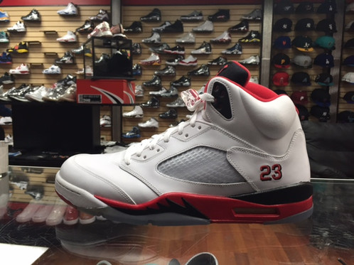 c045c1e13341 Nike Air Jordan Retro 5 Fire Red BT Men