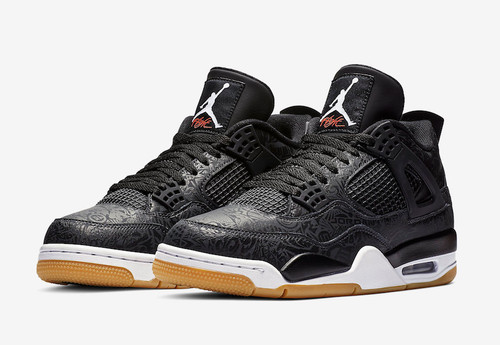 24906610cb06 Nike Air Jordan Retro 4 Black Laser