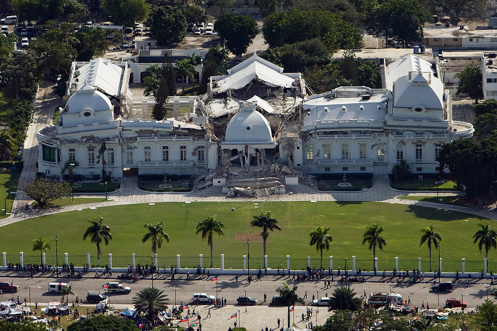 The Haitian National Palace After the Earthquake - Wikimedia Commons