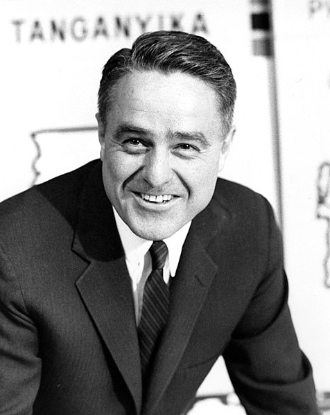 R. Sargent Shriver, 1961. Wikimedia Commons.