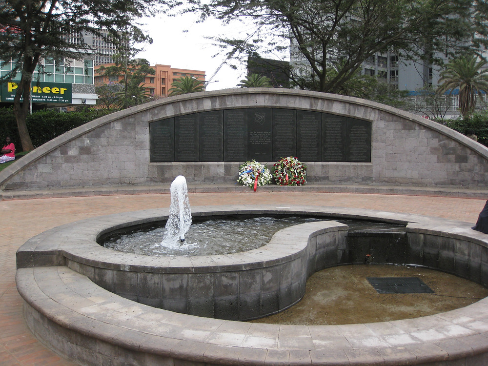 Memorial to the US Embassay Bombing in Nairobi, August 7, 1998