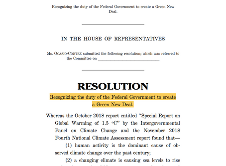 The Green New Deal Part II: The Noise