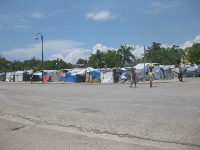 Tent cities still house internally displaced persons in various corners of Port Au Prince.