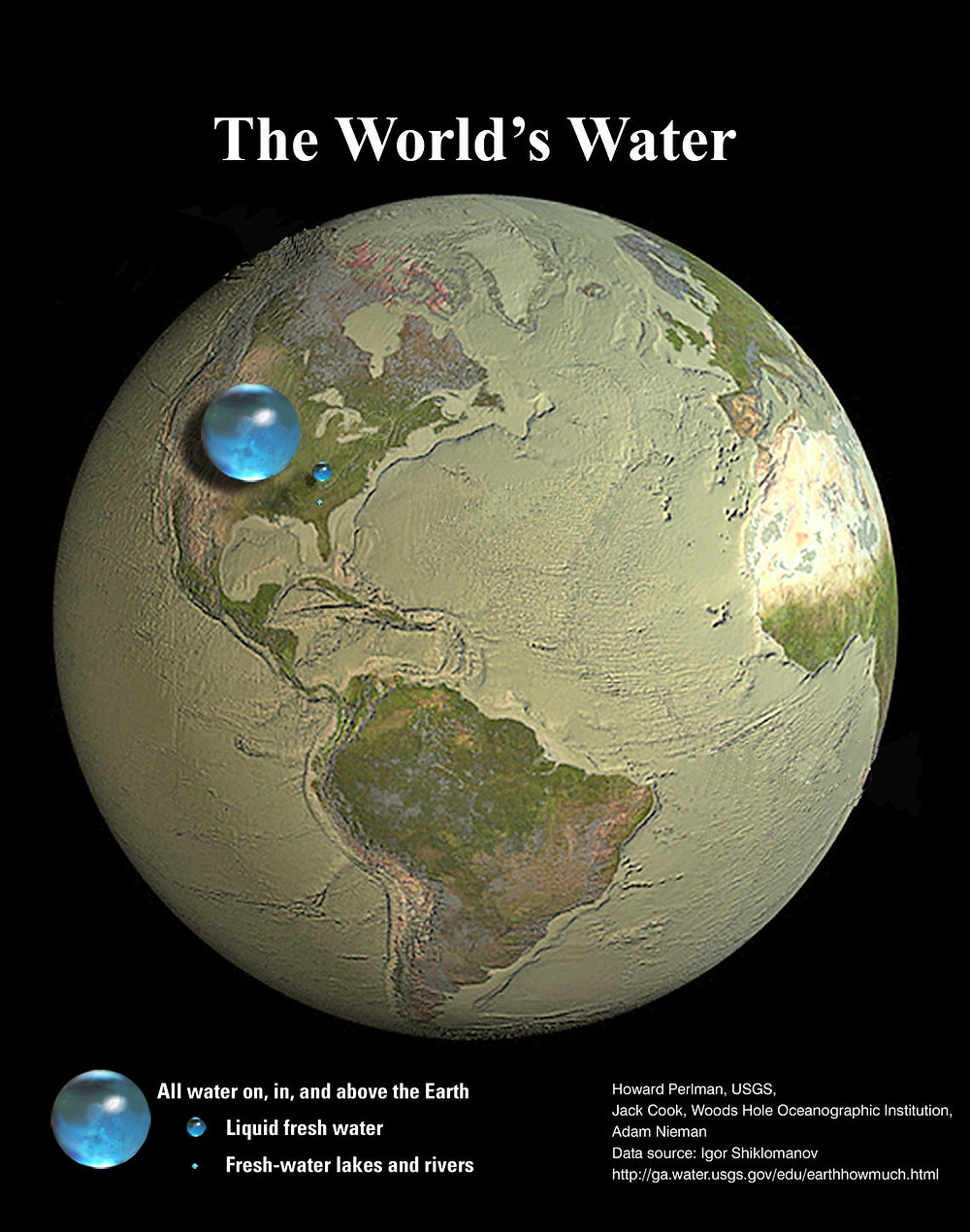 All of Earth's water, courtesy: US Geological Survey