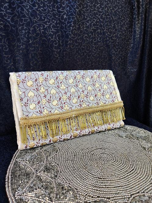 Fabric Embroidered (Zari) Clutch