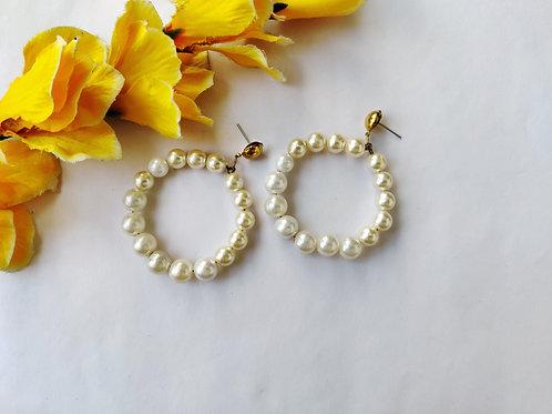 White-Cream Hoops