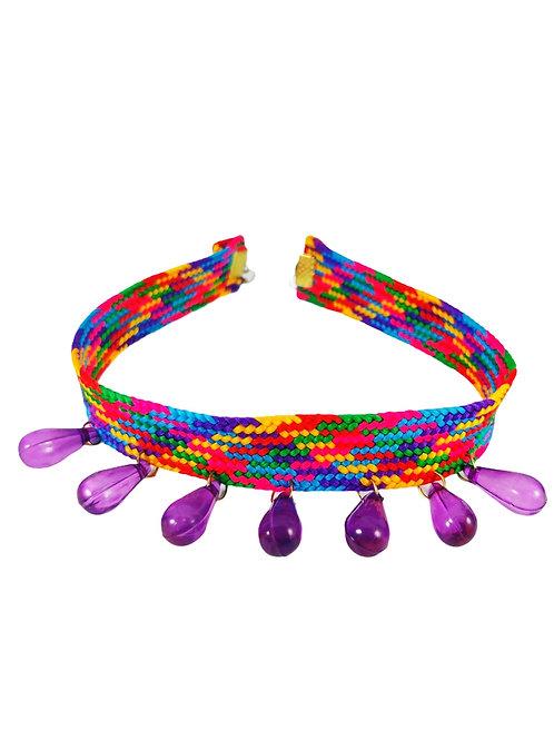 Multicolored Fabric Choker Neckpiece