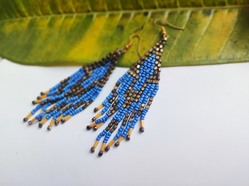 Beaded Thread Earrings