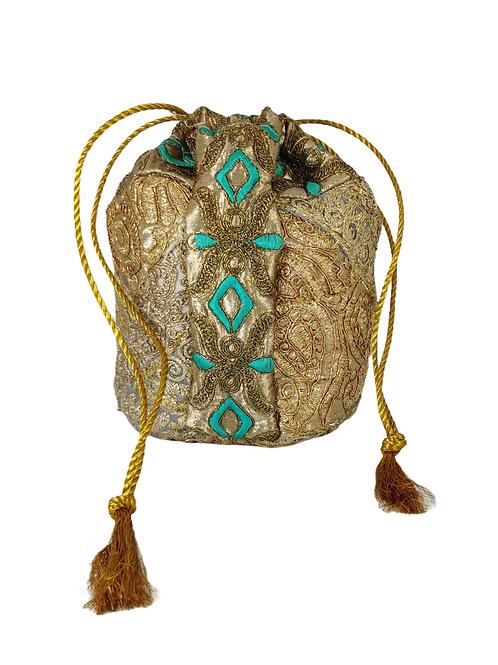 Heavy Embroidered Potli Bag